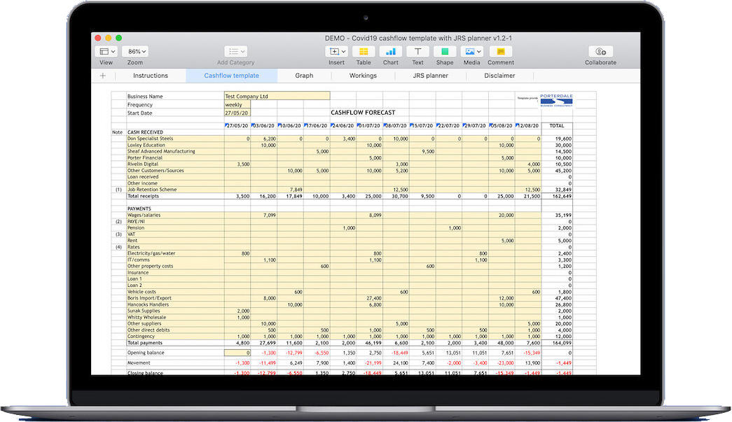 Free Cashflow Spreadsheet Templates Advice Services